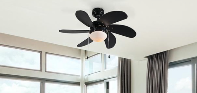QAZQA FRESH plafondventilator met lamp