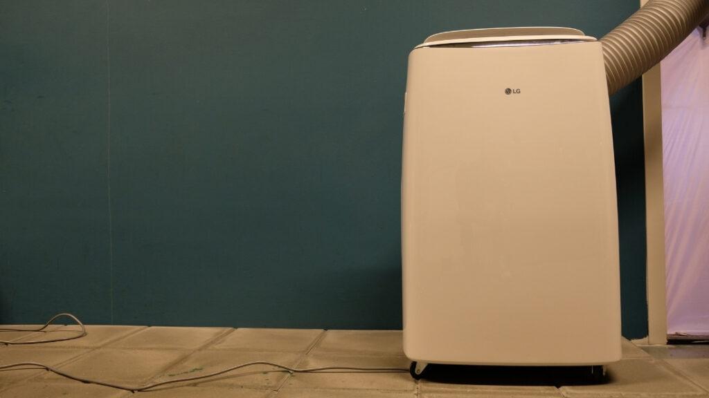 LG mobiele airco koelsnelheid test
